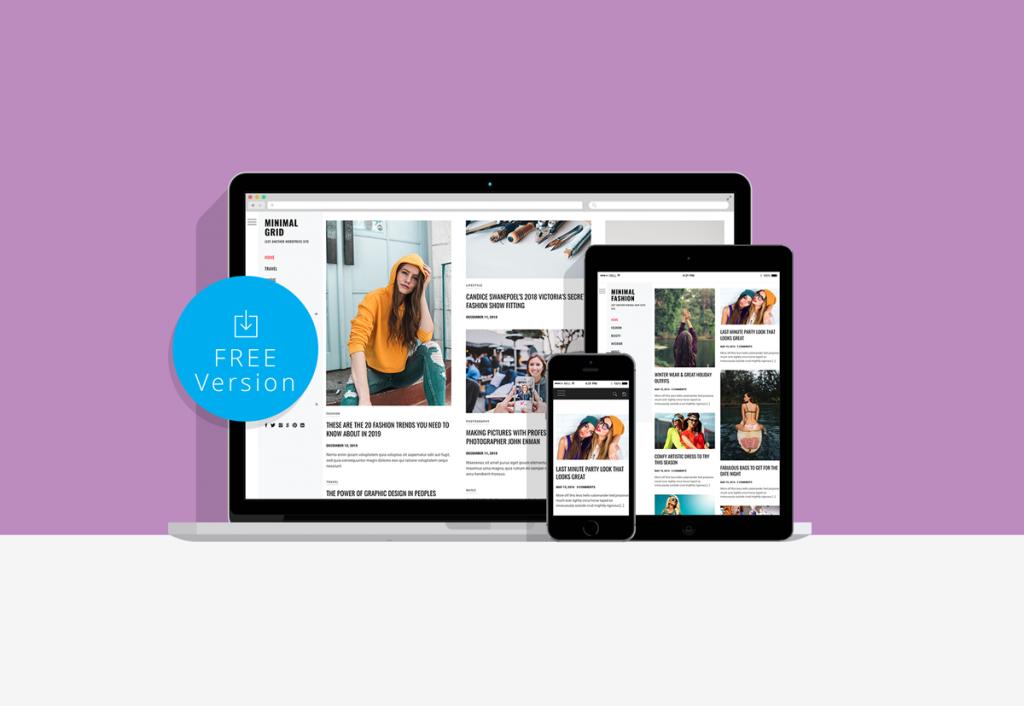 Minimal Grid Free WordPress Blog theme