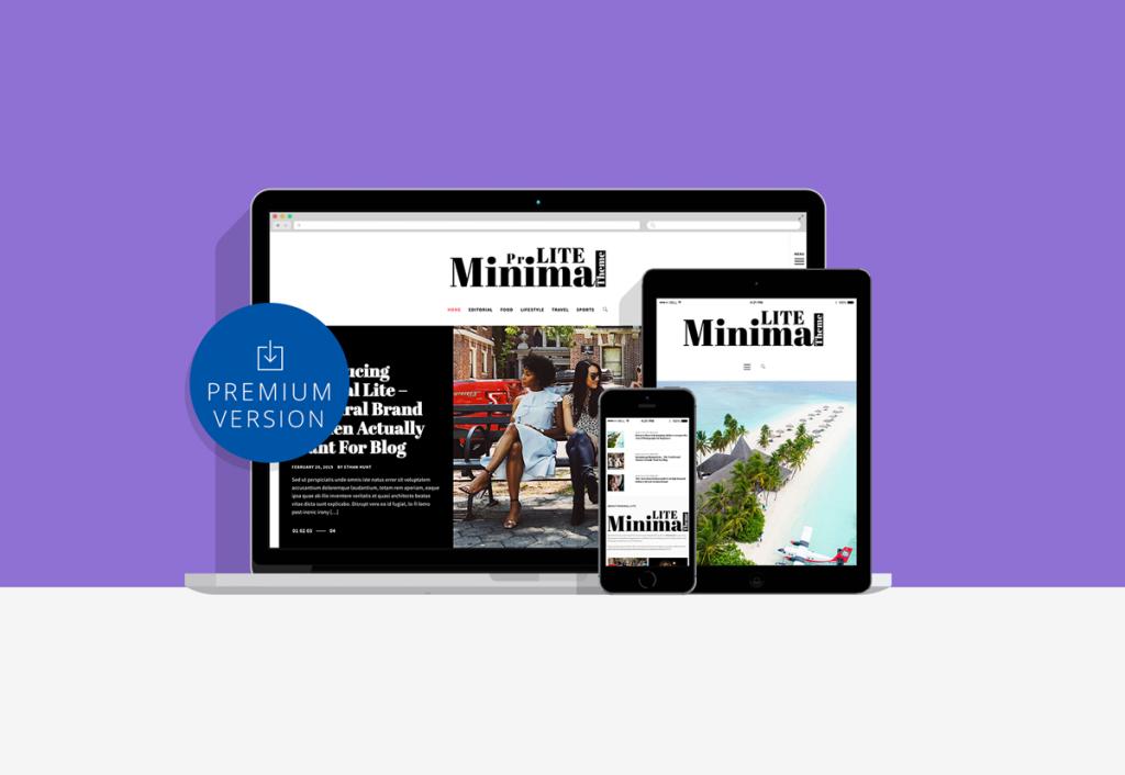 Minimal Lite Pro Minimalist WordPress Theme