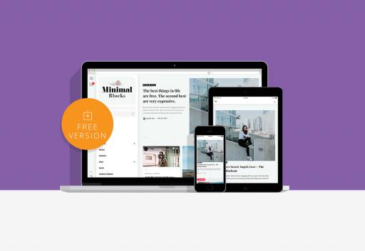 Minimal Blocks Free Powerful  WordPress Theme