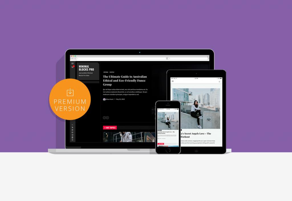 Minimal Blocks Pro Multifunctional WordPress theme