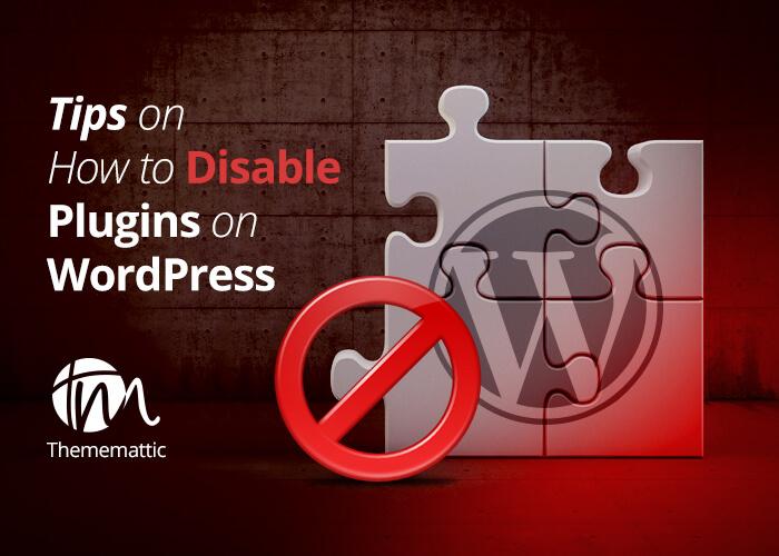 Disable Plugins on WordPress