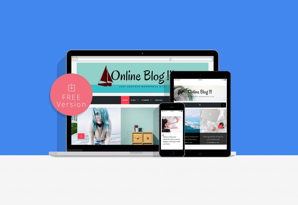 Online Blog Free WordPress Theme