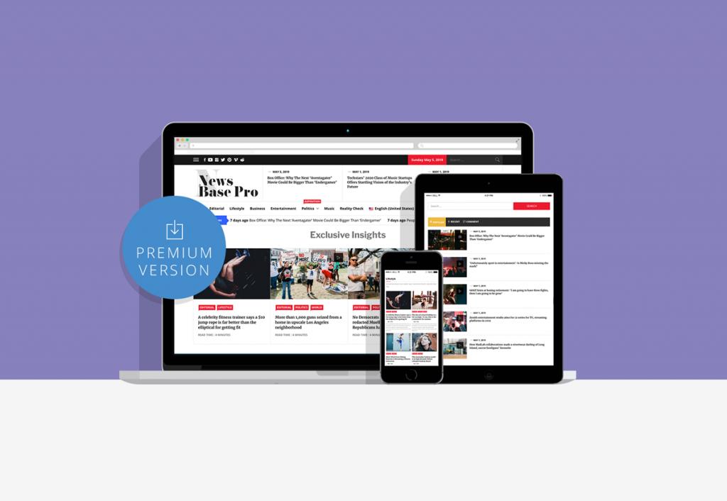 News Base Pro Powerful News WordPress Theme